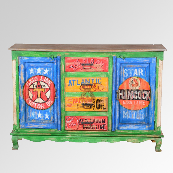 Recycled Cabinet With 2 Doors U0026 4 Drawers (150X43X100)